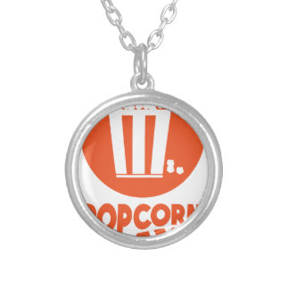 Popcorn Day - Appreciation Day Silver Plated Necklace