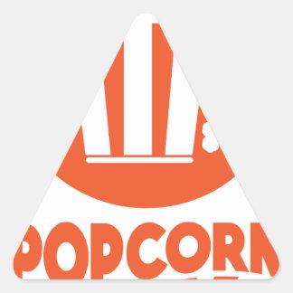 Popcorn Day - Appreciation Day Triangle Sticker