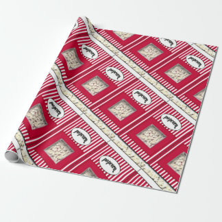Popcorn Holiday For him Wrapping Paper