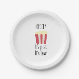 Popcorn! its great Zbzkp 7 Inch Paper Plate