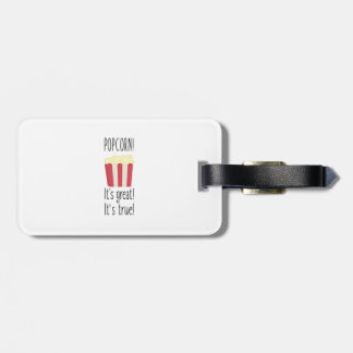 Popcorn! its great Zbzkp Luggage Tag