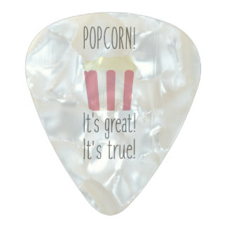 Popcorn! its great Zbzkp Pearl Celluloid Guitar Pick