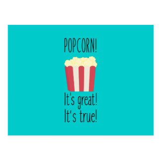 Popcorn! its great Zbzkp Postcard