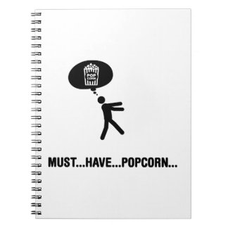 Popcorn Lover Spiral Notebooks