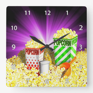 Popcorn Lovers Wall Clock
