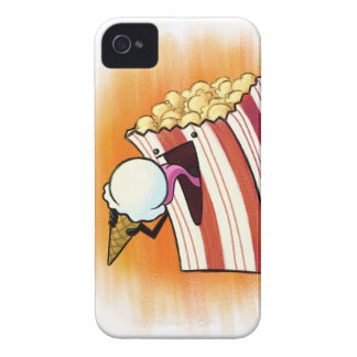 Popcorn Loves Ice Cream Case-Mate iPhone 4 Cases