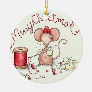 Popcorn Mouse Ornament
