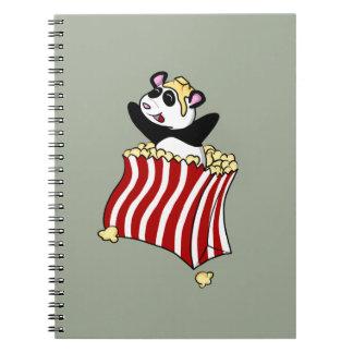 Popcorn Panda! Spiral Note Book