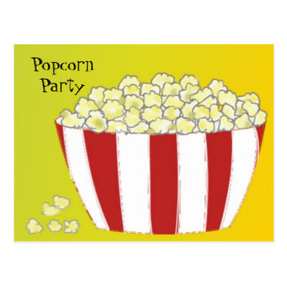Popcorn Party Invitation Postcard