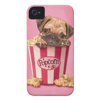 Popcorn Pug iPhone 4 Covers