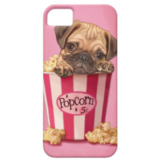 Popcorn Pug iPhone 5 Covers