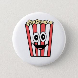 popcorn smiling 2 inch round button
