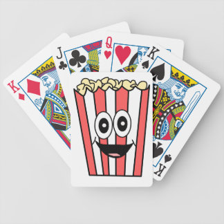 popcorn smiling bicycle playing cards