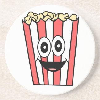 popcorn smiling coaster