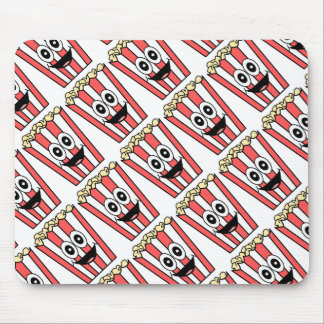 popcorn smiling mouse pad