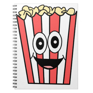popcorn smiling notebook