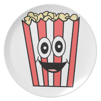 popcorn smiling plate