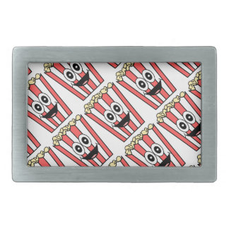 popcorn smiling rectangular belt buckle