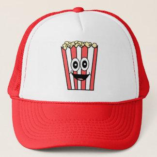popcorn smiling trucker hat