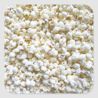 Popcorn Texture Photography Bright Decor Square Sticker