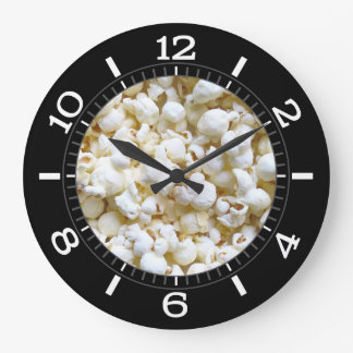 Popcorn Texture Photography Dial on a Wall Clock