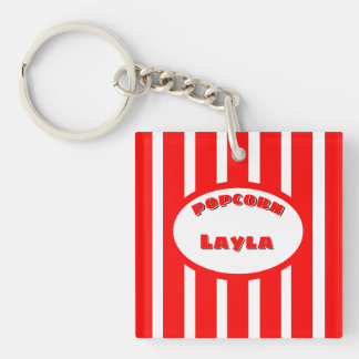 Popcorn Your name Keychain