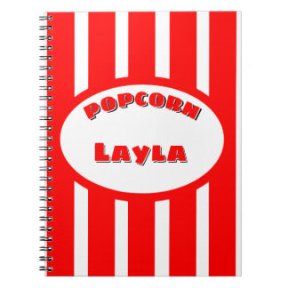 Popcorn Your name Notebook