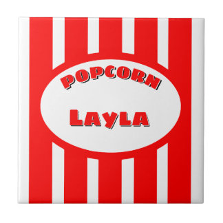 Popcorn Your name Tile