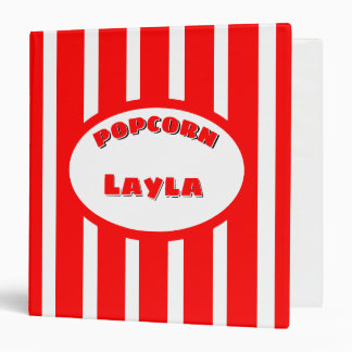 Popcorn Your name Vinyl Binder
