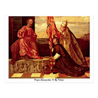 Pope Alexander Vi By Titian Postcard