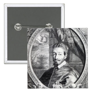Pope Alexander VII 2 Inch Square Button