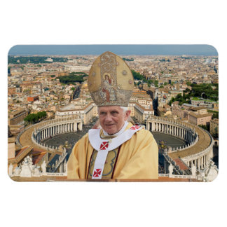 Pope Benedict XVI with the Vatican City Rectangular Photo Magnet
