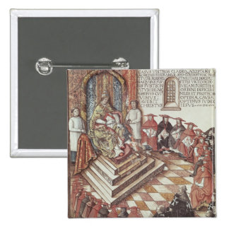 Pope Clement VII 2 Inch Square Button