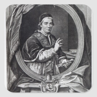 Pope Clement XIV, engraved by Domencio Cunego Square Sticker