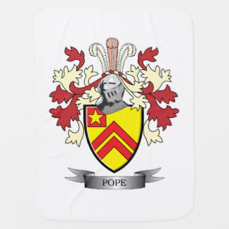 Pope Family Crest Coat of Arms Baby Blanket