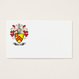 Pope Family Crest Coat of Arms Business Card