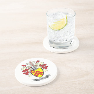 Pope Family Crest Coat of Arms Coaster