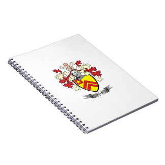 Pope Family Crest Coat of Arms Spiral Notebook