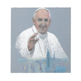Pope Francis in Manhattan Notepads