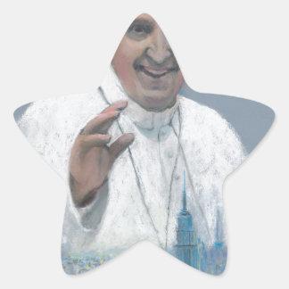Pope Francis in Manhattan Star Sticker