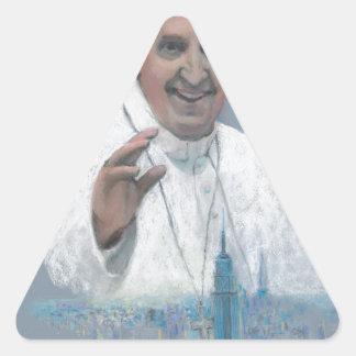 Pope Francis in Manhattan Triangle Sticker
