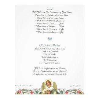 pope francis=st. francis simple prayer=angel letterhead template