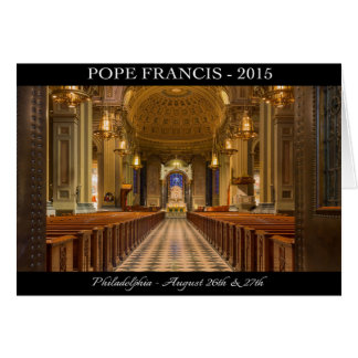 Pope Francis Visits Philadelphia Note Card