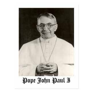 Pope John Paul I Postcard