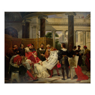 Pope Julius II ordering Bramante Poster