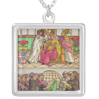 Pope Martin V is installed to the Papacy Silver Plated Necklace