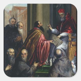 Pope Paul IV Handing over a Statute Square Sticker