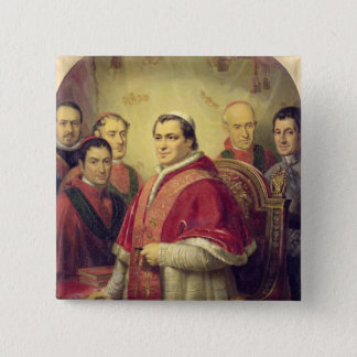 Pope Pius IX  1847 2 Inch Square Button
