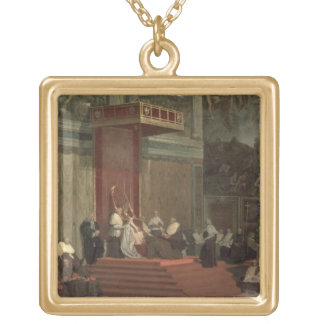 Pope Pius VII (Luigi Barnaba Chiaramonti) (1742-18 Gold Plated Necklace