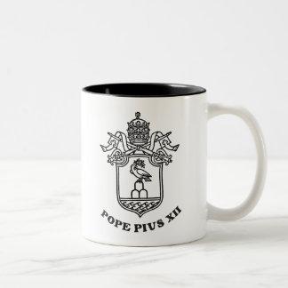 Pope Pius XII Arms 01 Two-Tone Coffee Mug